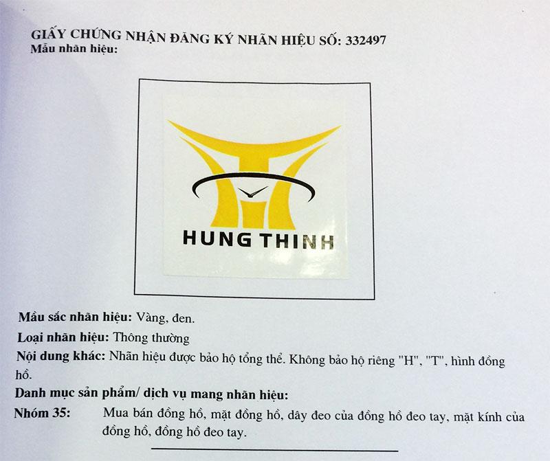 Giấy chứng nhận đăng ký logo Hưng Thịnh