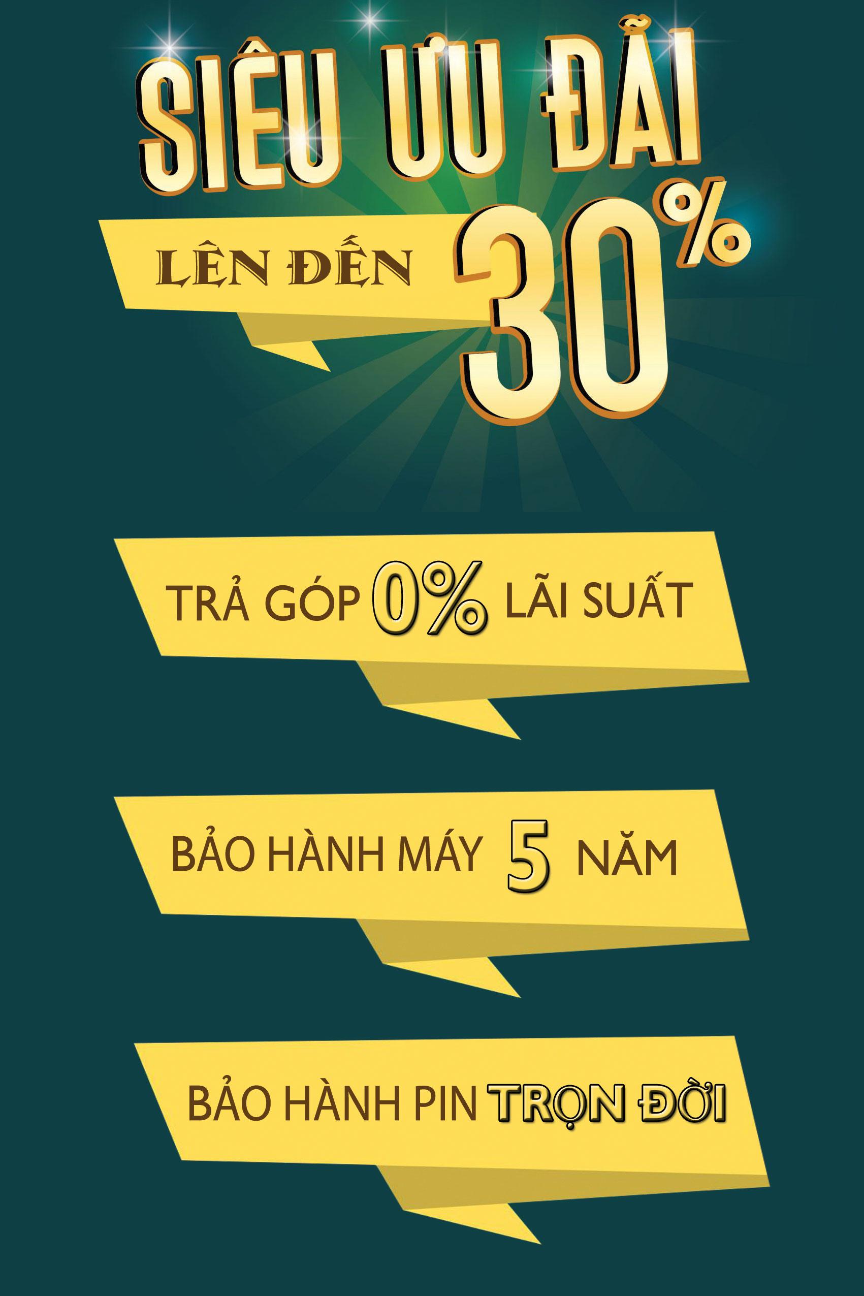 Siêu giảm giá lên đến 30%