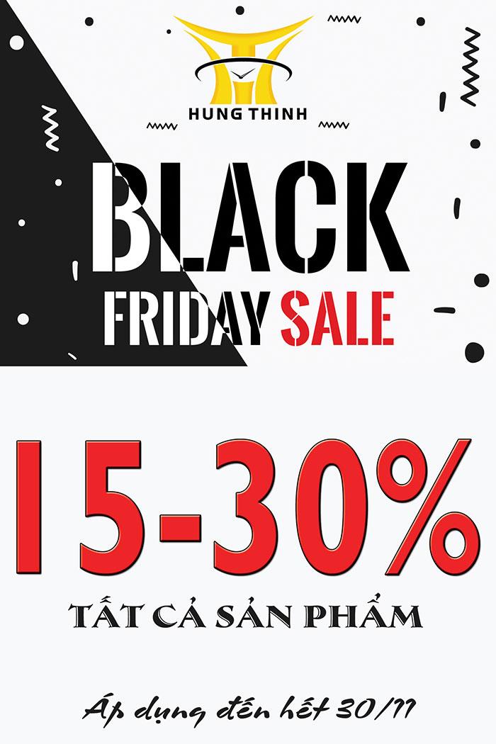 Black Friday giảm giá 15 đến 30% tất cả sản phẩm