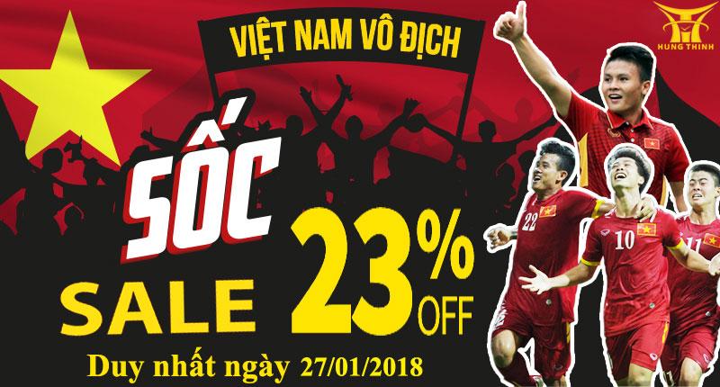 Chương trình giảm giá sôi động cỗ vũ cùng đội tuyển U23 Việt Nam