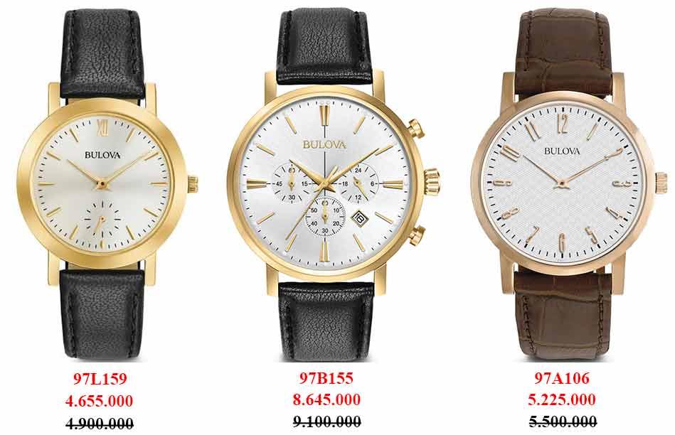 Những mẫu đồng hồ Bulova dây da thời trang chính hãng Thụy Sỹ