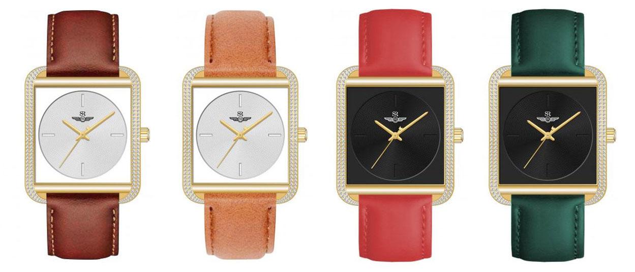 Những  mẫu đồng hồ Sunrise mặt vuông mới nhất trên thị trường