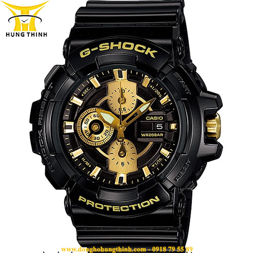 CASIO NAM DÂY VỎ NHỰA G-SHOCK GAC-100BR-1ADR