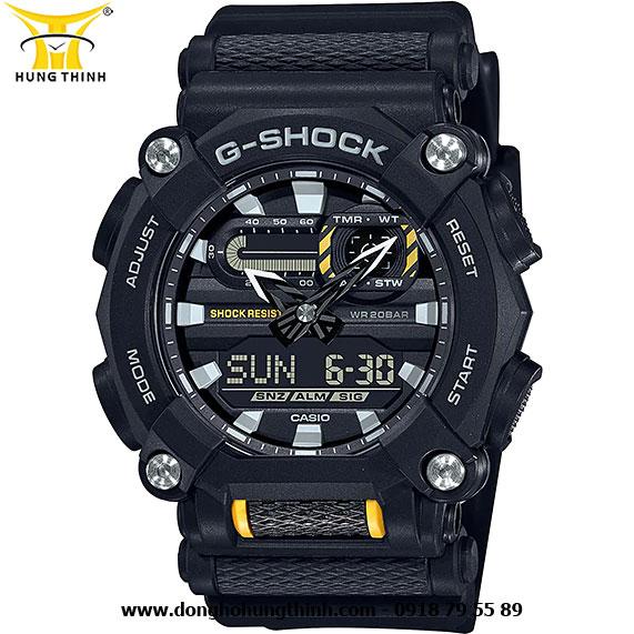 ĐỒNG HỒ CASIO THỂ THAO NAM G-SHOCK DÂY VỎ NHỰA GA-900-1ADR
