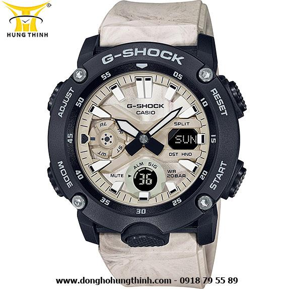 ĐỒNG HỒ CASIO THỂ THAO NAM G-SHOCK SỢI CARBON GA-2000WM-1ADR