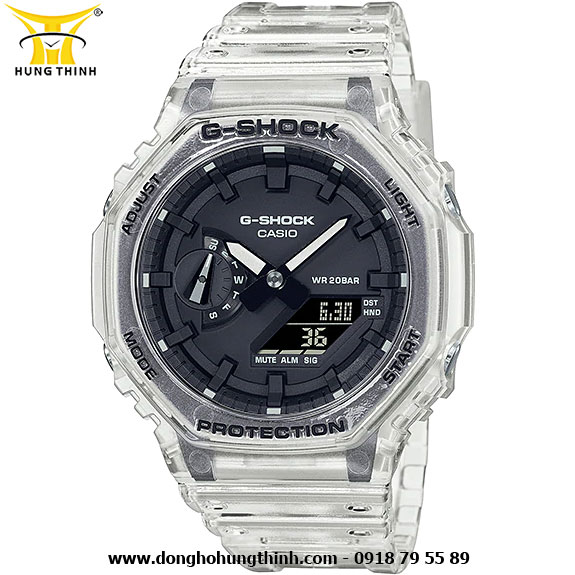 ĐỒNG HỒ CASIO THỂ THAO NAM G-SHOCK SỢI CARBON GA-2100SKE-7ADR