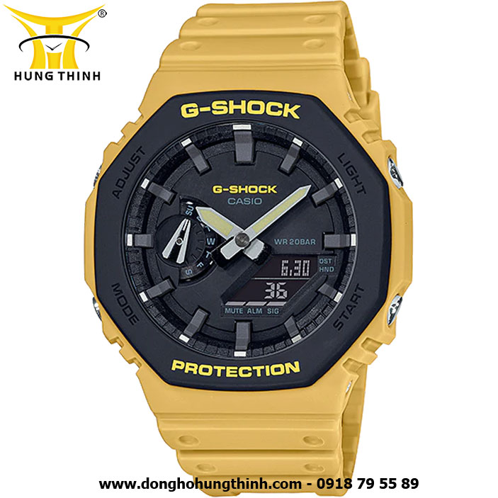 ĐỒNG HỒ CASIO THỂ THAO NAM G-SHOCK SỢI CARBON GA-2110SU-9ADR
