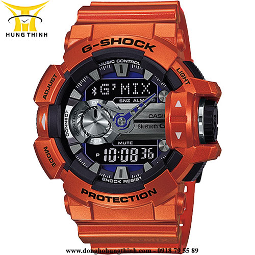 CASIO NAM DÂY VỎ NHỰA G-SHOCK GBA-400-4BDR