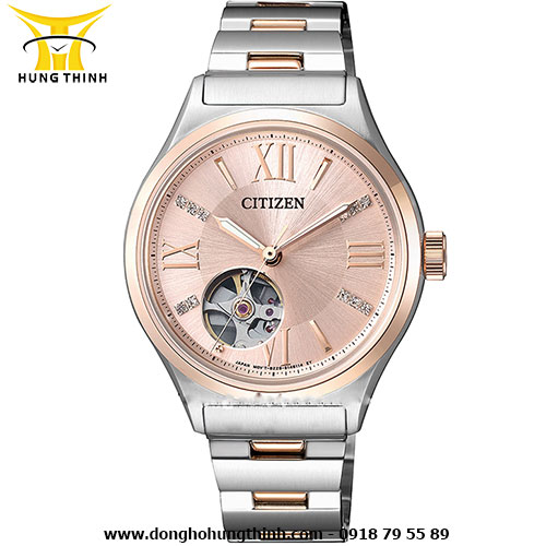 CITIZEN AUTOMATIC NỮ 3 KIM PC1009-51W