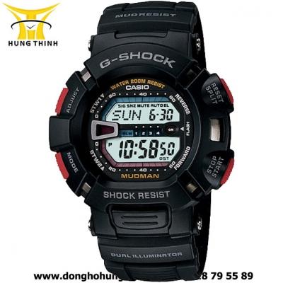 CASIO DÂY CAO SU NAM G-SHOCK G-9000-1VDR
