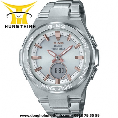 CASIO DÂY KIM LOẠI THỂ THAO NỮ BABY-G MSG-S200D-7ADR