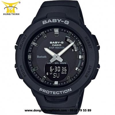 ĐỒNG HỒ CASIO BABY-G NỮ THỂ THAO BLUETOOTH BSA-B100-1ADR
