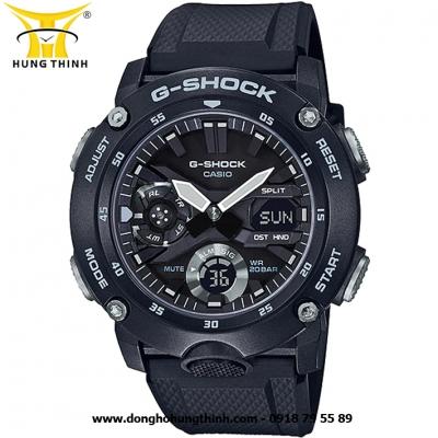 ĐỒNG HỒ CASIO THỂ THAO NAM G-SHOCK SỢI CARBON GA-2000S-1ADR