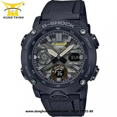 ĐỒNG HỒ CASIO THỂ THAO NAM G-SHOCK SỢI CARBON GA-2000SU-1ADR