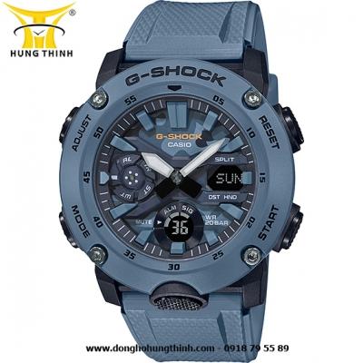 ĐỒNG HỒ CASIO THỂ THAO NAM G-SHOCK SỢI CARBON GA-2000SU-2ADR