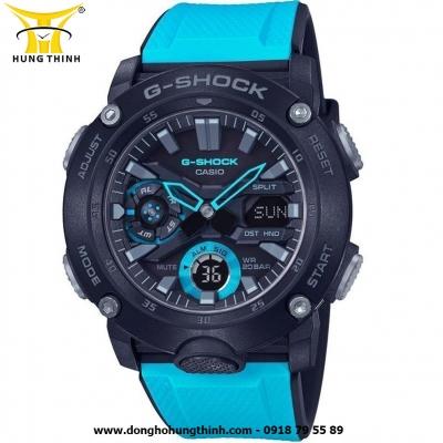 ĐỒNG HỒ CASIO THỂ THAO NAM G-SHOCK SỢI CARBON GA-2000-1A2DR
