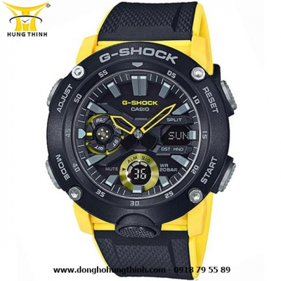 ĐỒNG HỒ CASIO THỂ THAO NAM G-SHOCK SỢI CARBON GA-2000-1A9DR