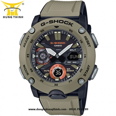 ĐỒNG HỒ CASIO THỂ THAO NAM G-SHOCK SỢI CARBON GA-2000-5ADR