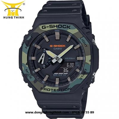 ĐỒNG HỒ CASIO THỂ THAO NAM G-SHOCK SỢI CARBON GA-2100SU-1ADR