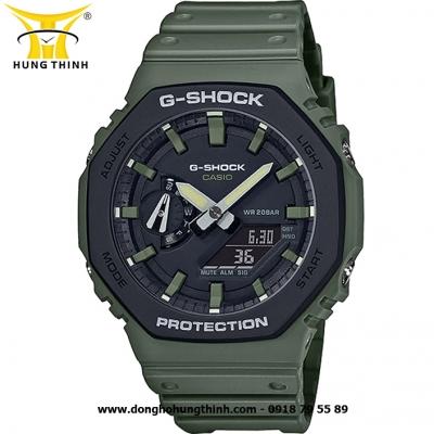 ĐỒNG HỒ CASIO THỂ THAO NAM G-SHOCK SỢI CARBON GA-2110SU-3ADR