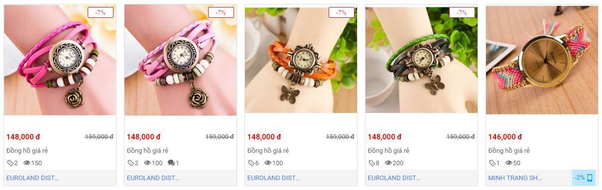 Mang buộc phải mua đồng hồ nữ giá rẻ dưới 100k