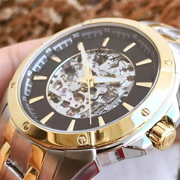 Đánh giá đồng hồ nam bulova tự động lộ máy 96A170 và 98A146